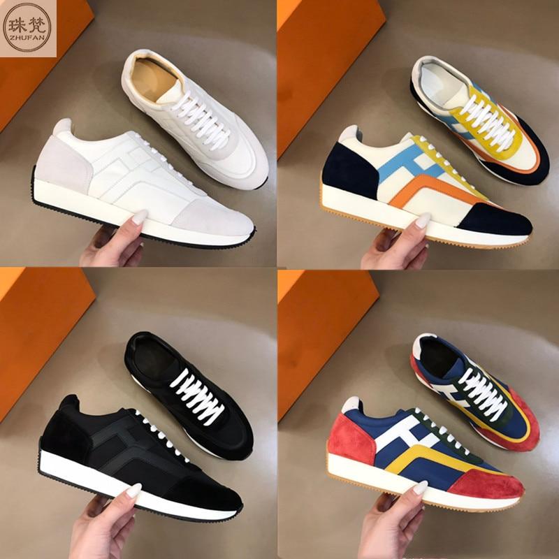 الجديد مصمم فاخر المألوف أحذية رياضية كاجوال جلدية أحذية رياضية للرجال اللون مطابقة أحذية للرجال احذية الجري