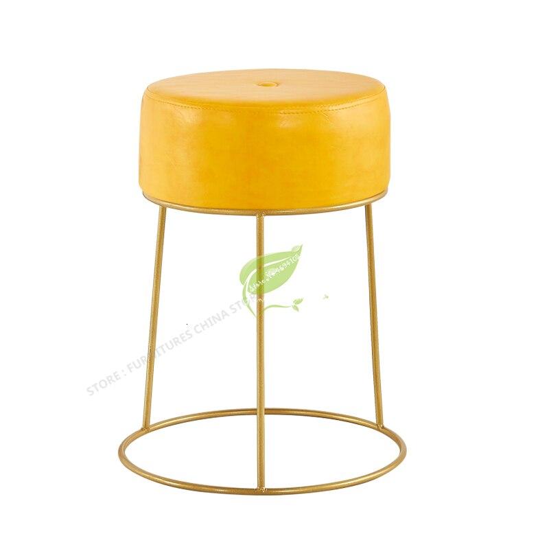 Скандинавские железные простые современные туфли скамейка из розового золота мебель для спальни стул для макияжа Dotomy барные стулья оттома...