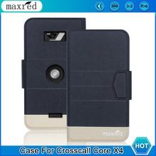 Original! Crosscall core x4 caso 5 cores de alta qualidade flip ultra-fino couro de luxo capa protetora para crosscall core x4