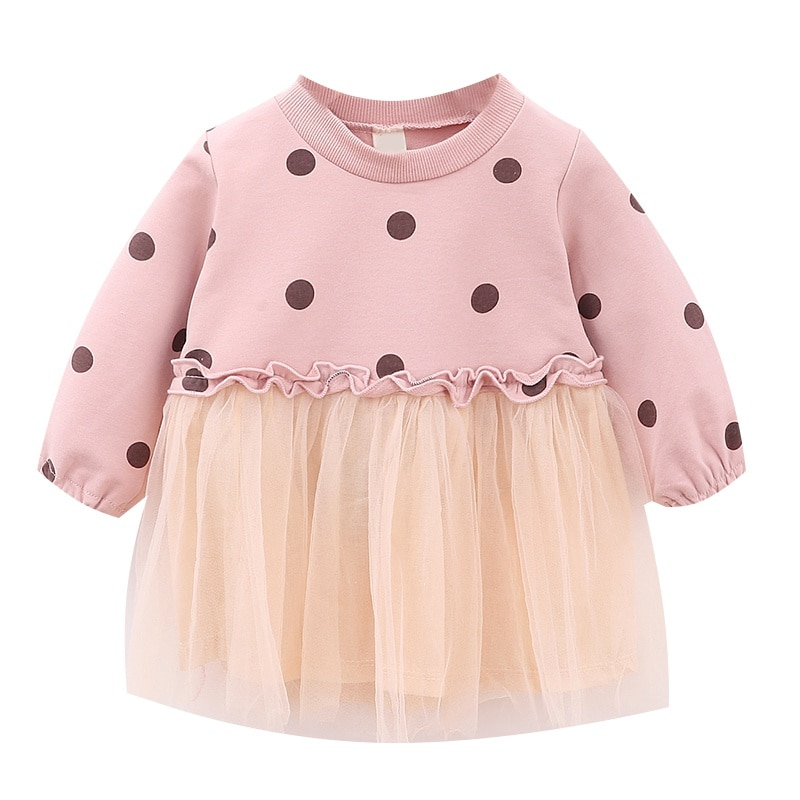 2019 6 Estilos Novos Meninas Do Bebê Bonito Vestido Luva Longa Das Meninas Vestido de Verão Crianças Tutu Vestido Crianças Outono Vestidos Casuais 0 -4T