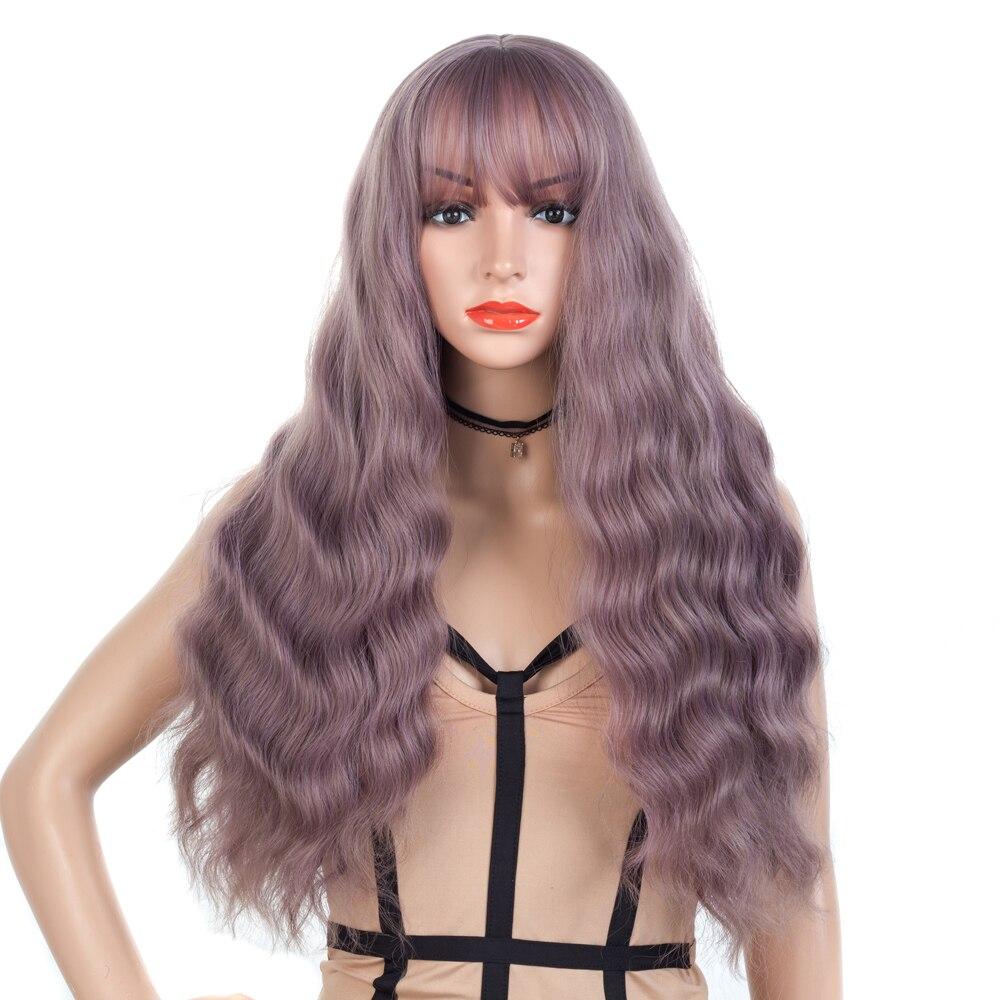 cabelo longo cosplay peruca maquina peruca feminina com franja 26 polegada perucas