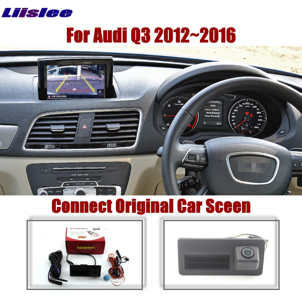 Car Parking Rear Reverse Camera For Audi Q3 2012 2013 2014 2015 2016 Original Screen Upgrade System Trajectory Dynamic Image