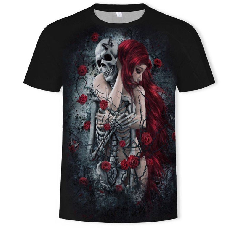 2019 nova 3d crânio poker engraçado t camisas dos homens da marca quente dos homens casuais 3d impresso t camisa roupas masculinas tshirt verão topo ásia tamanho