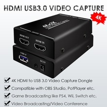Caméscope de Capture de Dongle vidéo   4K 2K HDMI vers USB 3.0, commutateur PS4 Wii jeu de radiodiffusion en direct