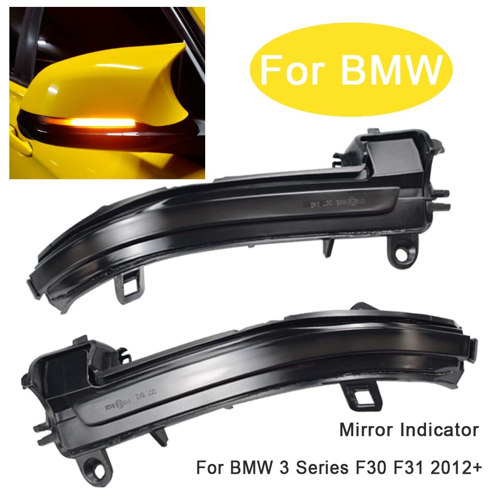 Superb ala lateral llevó señal intermitente espejo Flasher luz para BMW F20 F21 F22 F23 F32 F33 F34 X1 E84 1, 2, 3, 4 series