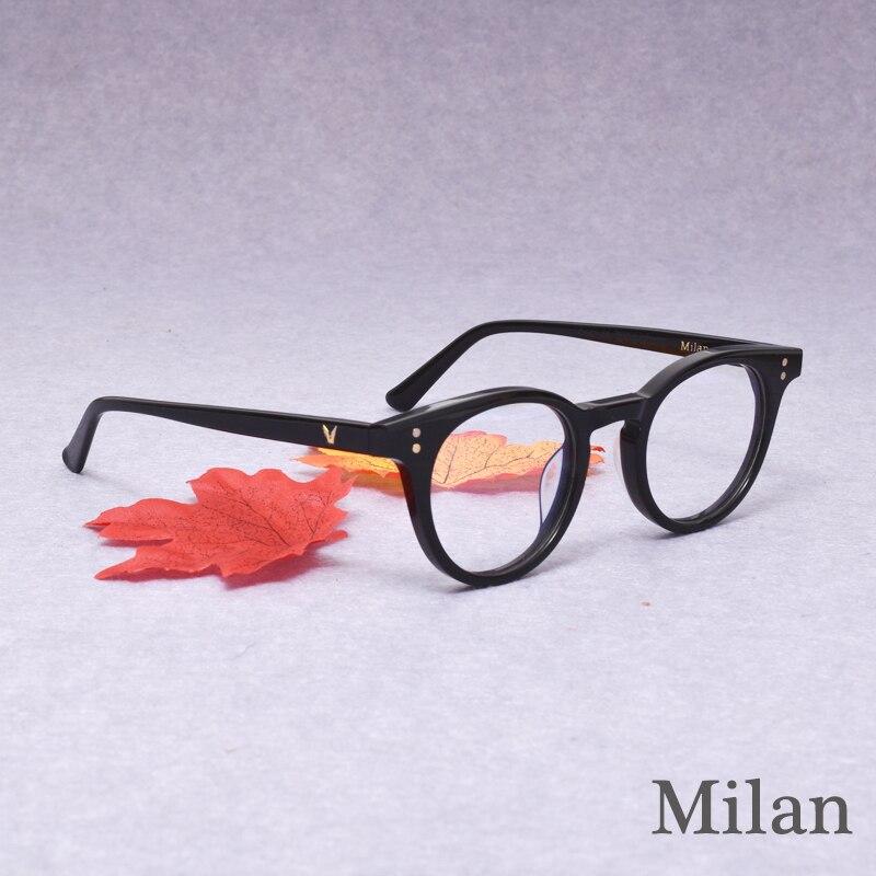 نظارات قراءة بإطار من الأسيتات للرجال والنساء ، نظارات قراءة بإطار صغير من ميلانو أوليفر