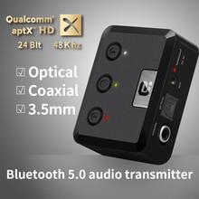 Передатчик APTX HD Bluetooth 5,0 CSR8675, беспроводной музыкальный аудио адаптер USB 3,5 мм, AUX/оптический/SPDIF/коаксиальный/RCA для ТВ, ПК MR275