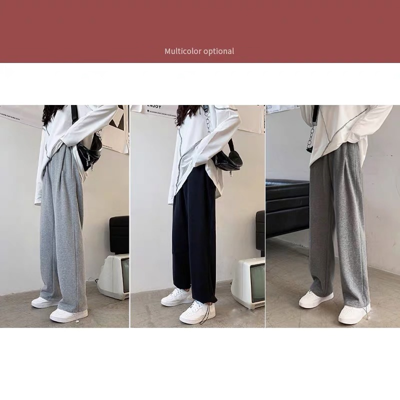 New Fashion Spring Maternity Clothes Loose Wide Leg Pants Plush Winter Thicker Pregnant Women Nursing Pregnancy Leggings Trouser enlarge
