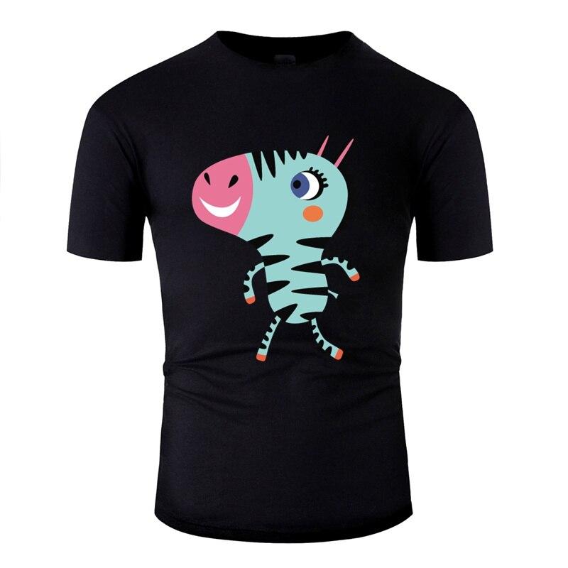 Camiseta de moda con imagen de Vector de animales de dibujos animados africanos divertidos de cebra para hombre, camisetas novedosas de cuello redondo, camiseta de Hip Hop