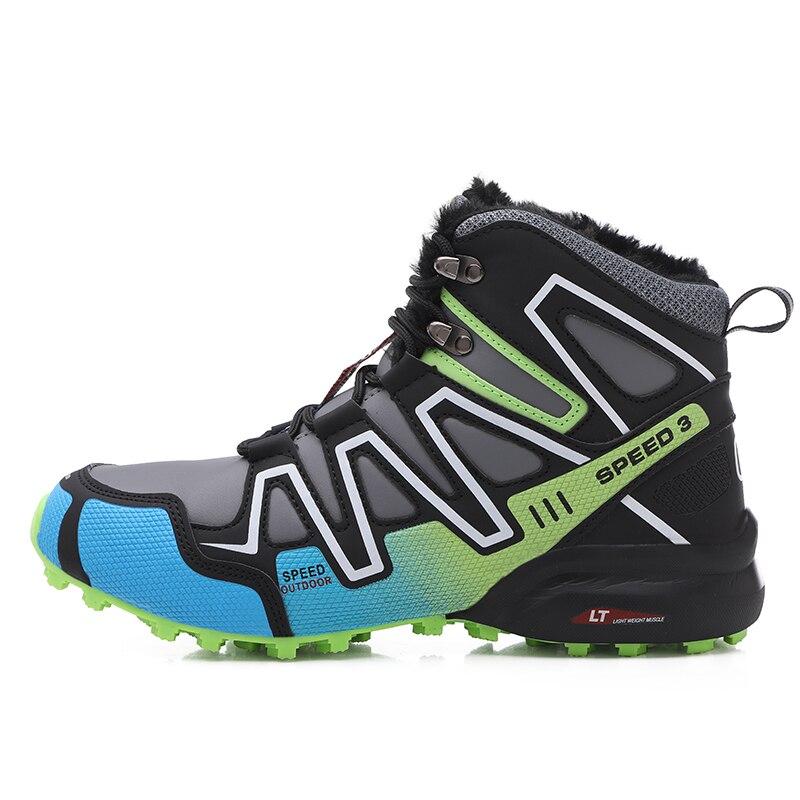 Повседневная обувь для мужчин, тренировочные утепленные туристические ботинки, водонепроницаемая мужская спортивная обувь, треккинговые ...