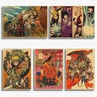 Affiche de Ninja Vintage retro anime  affiche Uzumaki  piece de decoration murale pour Bar cafe maison