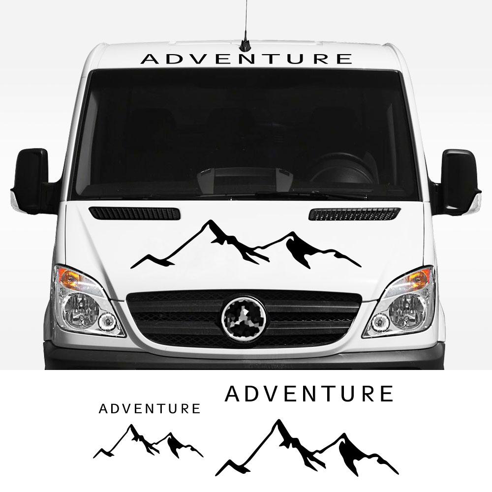 2 unids/lote pegatinas de coche Camper Van de rayas gráficos calcomanías de...