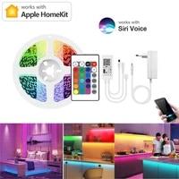 Homekit     bande lumineuse RGB Led 12V  pour Apple Alexa  Google Home  Smart Life  telecommande  commande vocale Siri  wi-fi