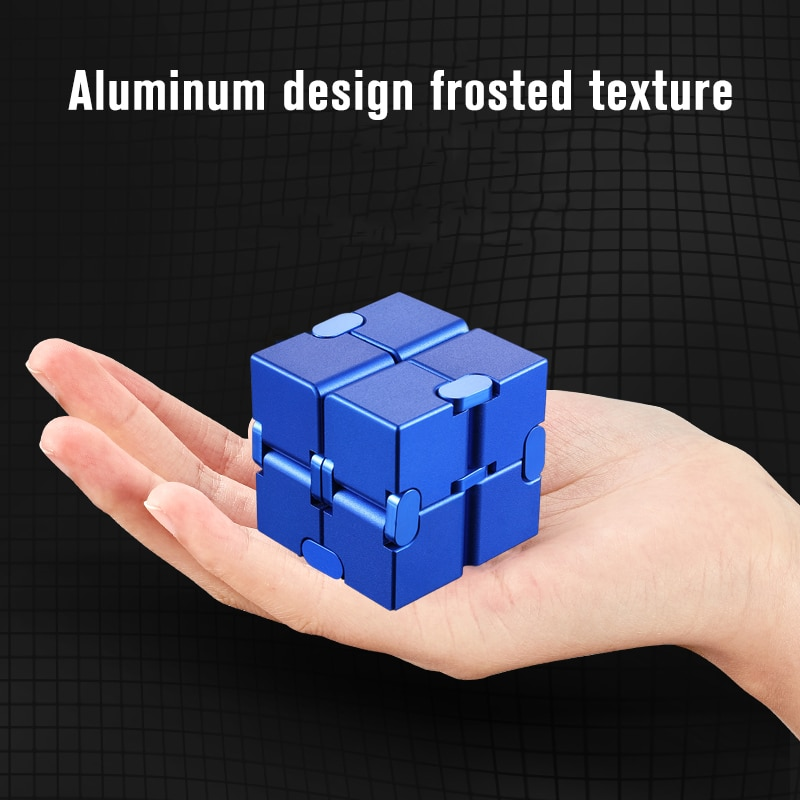 Mini Stress Relief Toy Premium Metal Infinity Cube Portable Decompresses Relax Toys Best Gift Toys for Children enlarge