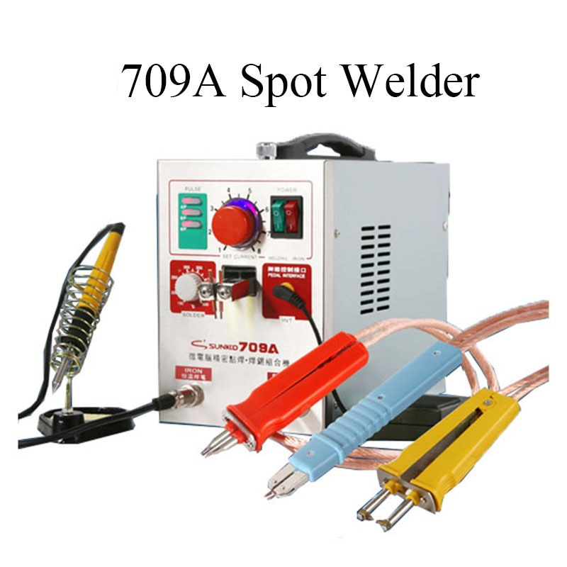 SUNKKO 110V 709A Spot Welder with welder pen,Spot Welder for 18650 ,spot welder Welding station for 18650