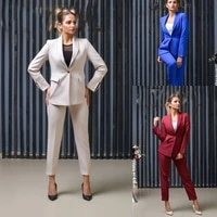 fashion designed women suits slim fit one button shawl lapel blazer office casual daily party prom jacket 2 pieces