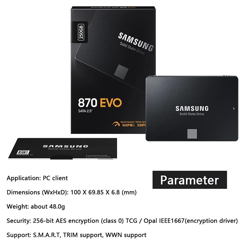 SAMSUNG SSD Drive Hard Disk 1TB Internal Ssd Solid State Disk 500GB HDD 250gb Pen Drive SSD 2TB SATA3 2.5 Laptop For Computer enlarge