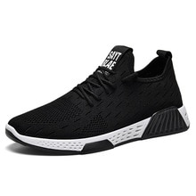 Men Breathable Sneakers No-slip Vulcanize Shoes Male Air Mesh Lace Up Wear-resistant Casual Shoes Te