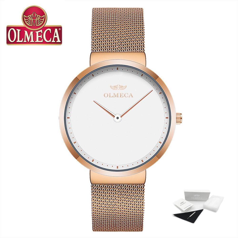 Top Brand Luxury OLMECA Women's Fashion Wristwatch 30M Waterproof White Dial Quartz Watches Relogio Feminino Drop-Shipping enlarge