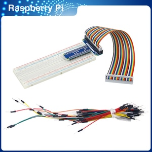 ITINIT R67 GPIO Extension Board +MB-102 830 Point Breadboard + 40 Pin GPIO Cable + Jumper Cable For Arduino Raspberry Pi 4
