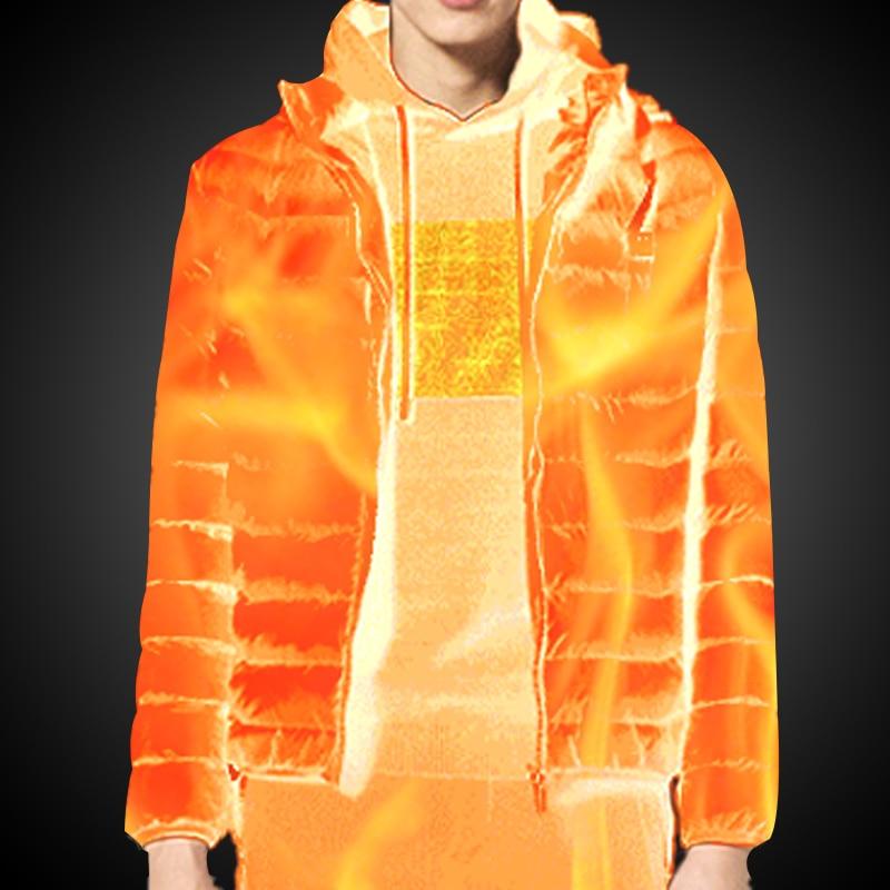 Moški zimski topli grelni jopiči USB, pametni termostat, ogrevana - Moška oblačila - Fotografija 5