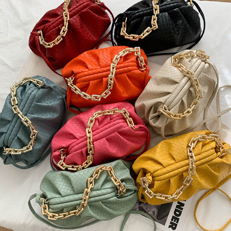 Marca de Luxo Couro do Plutônio Bolsas para as Mulheres Bolsa Feminina Moda Grossa Corrente Ombro Bagstrendy Crossbody Nova
