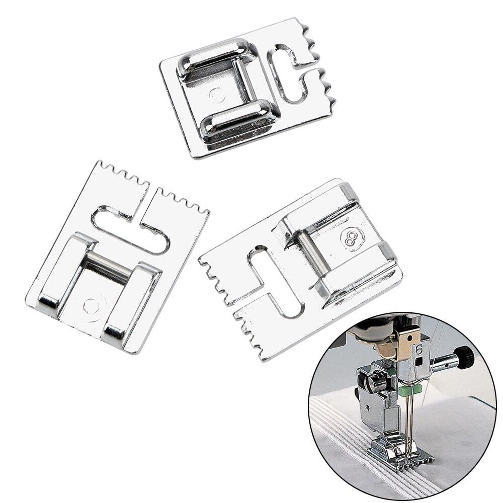 Accesorios para máquinas de coser con ranuras NICEYARD, accesorios para máquinas de coser, máquina de coser con pliegues, herramienta de coser para pies, suministros para el hogar