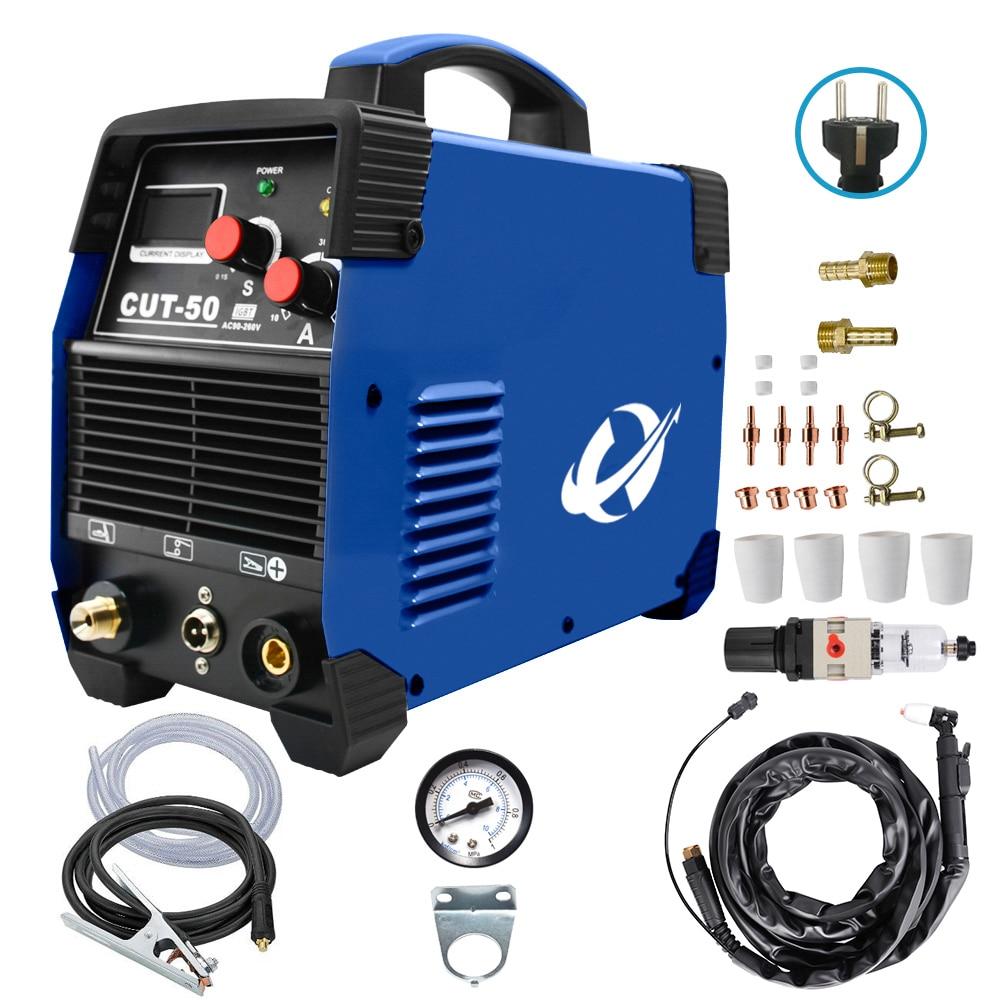 قاطع بلازما IGBT إير بلازما CUT50 220 فولت 50 أمبير 10-20 مللي متر آلة قطع بلازما هوائي نظيف آلة قطع HF