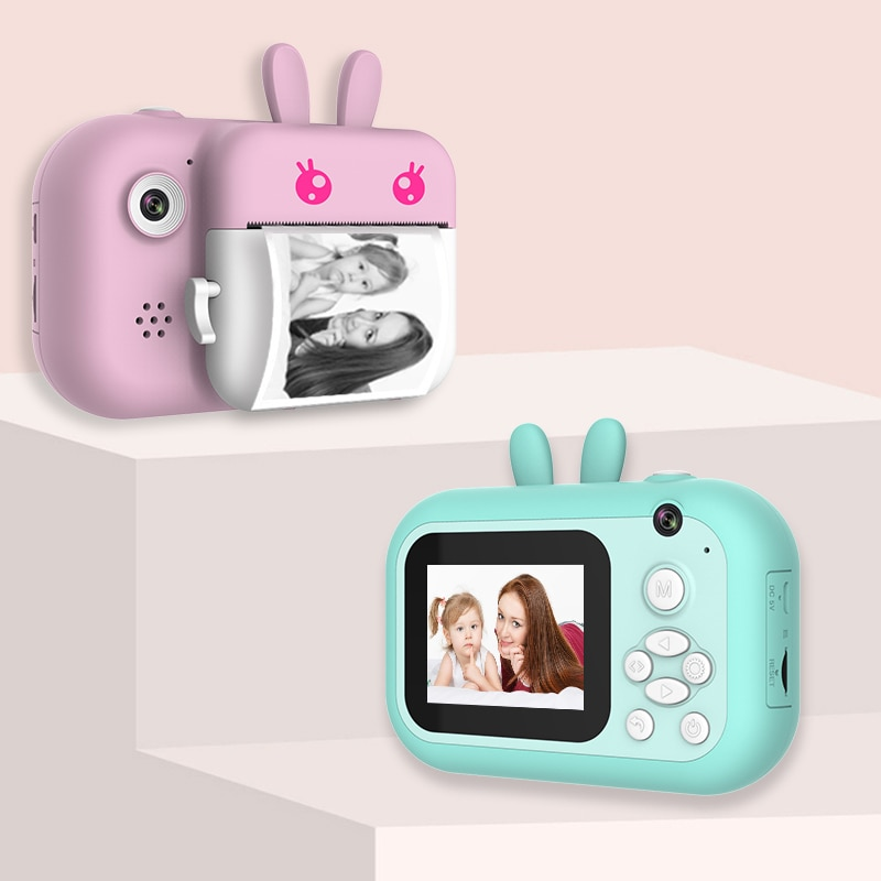 1080P HD Children Camera Instant Print Camera Christmas Gifts For Kids Boys Girls With Thermal Photo Paper Toy For Birthday Gift