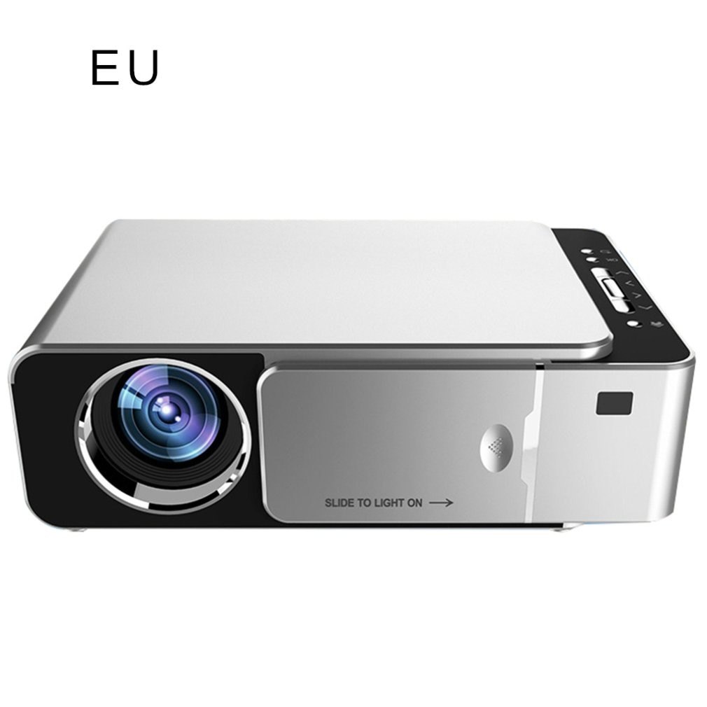 ALSTON-Proyector led T6 full hd, 4k, 3500 lúmenes, HDMI, compatible con USB...