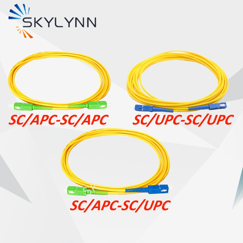 50PCS 1 Meter Length SC/APC and SC/UPC Connector SM G652D 3.0MM SX Core Yellow LSZH Jacket Fiber Optic Patch Cord For Telecom
