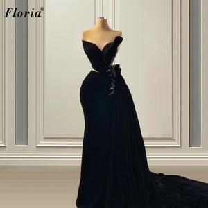 Black Formal Prom Dresses Mermaid Long Sweetheart Evening Dresses 2021 Turkish Couture Film Ceremony Vestido De Fiesta De Boda