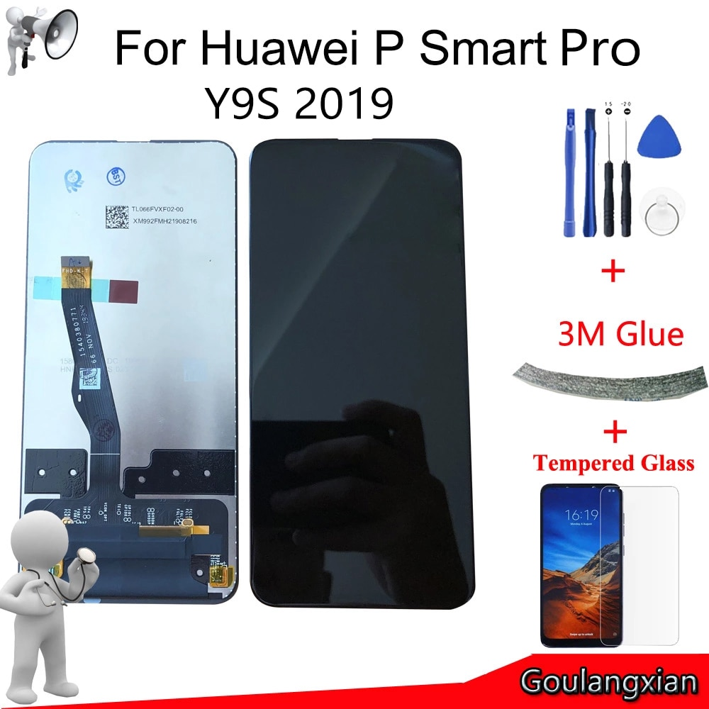 6,59 AAA Original con marco para Huawei P Smart Pro 2019 STK-L21 pantalla LCD de montaje de digitalizador con pantalla táctil para Y9S 2019 LCD