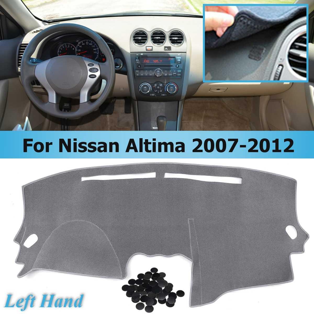 Estilo do carro cinza cobre dashmat traço esteira sun sombra painel capa tapete para nissan altima 2007 2008 2009 2010 2011 2012