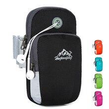 Sac de Sport en cours dexécution brassard sac Gym Jogging sacs en plein air étanche Sport support pour téléphone couverture poignet bras sac avec trou pour casque