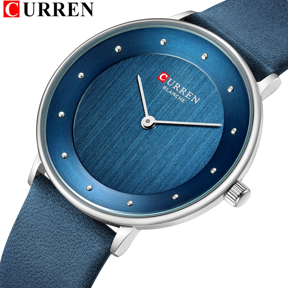 CURREN 9033 Womens Watches Luxury Leather Ladies Quartz Wrist Watch Casual Elegant Women's Clock Fem
