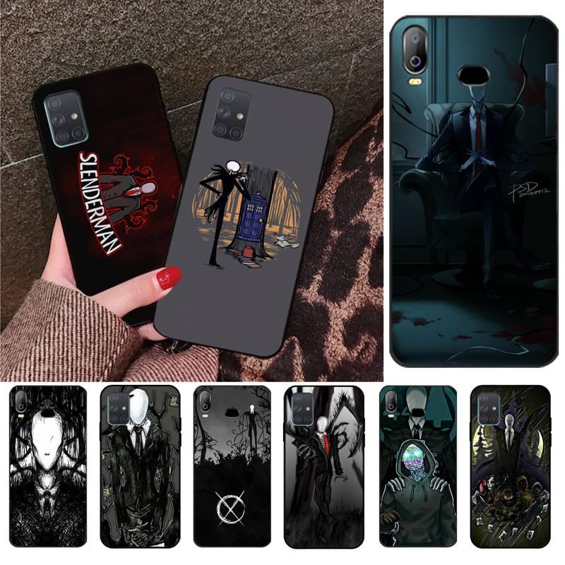 Slenderman Foto Personalizado Caso de Telefone Macio Para Samsung Galaxy A01 A11 A31 A81 A10 A20 A30 A40 A50 A70 A80 A71 A91 A51
