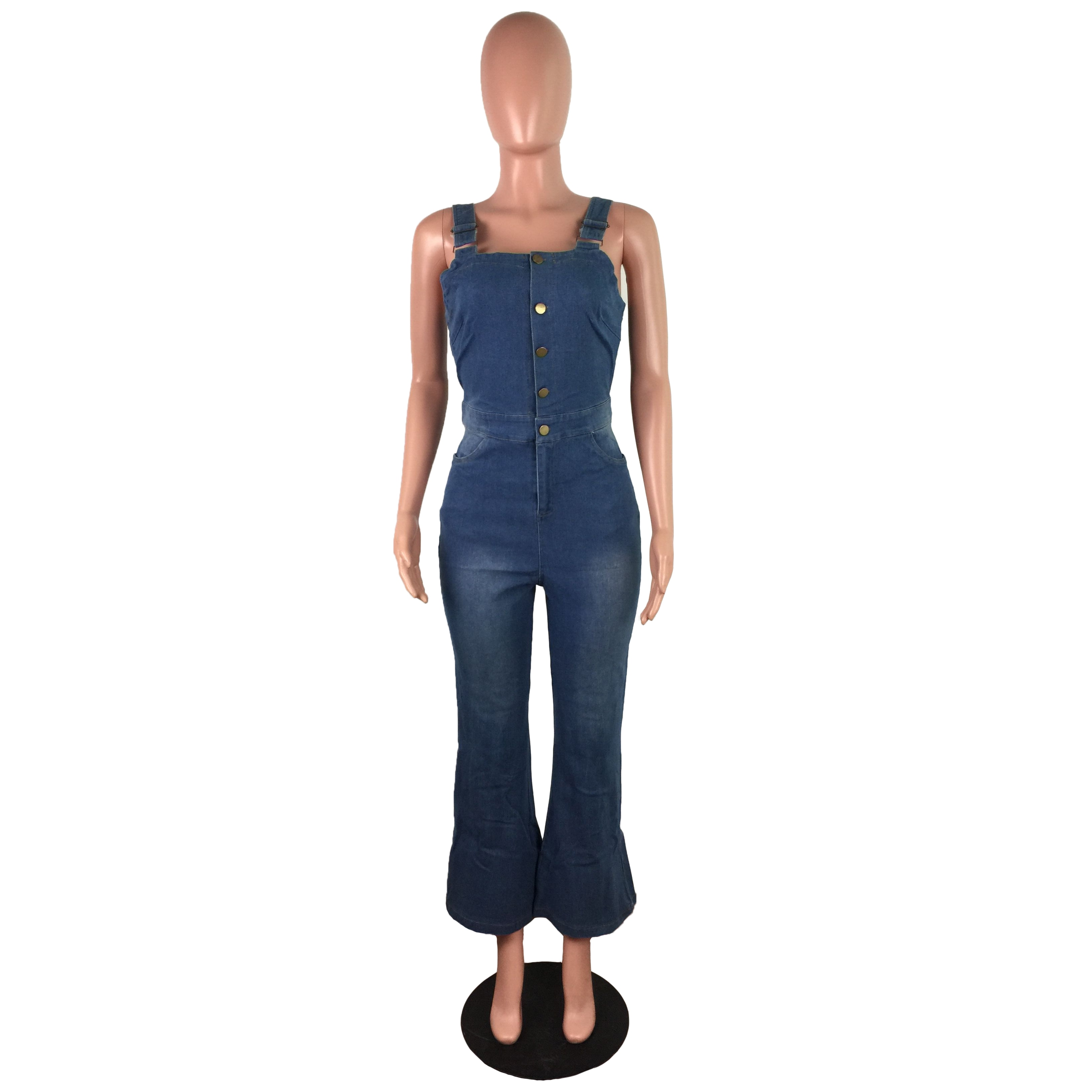 Fashion new style all-match personality jumpsuit with white spray sexy sling jumpsuit denim pants, grunge jeans ,women pants enlarge