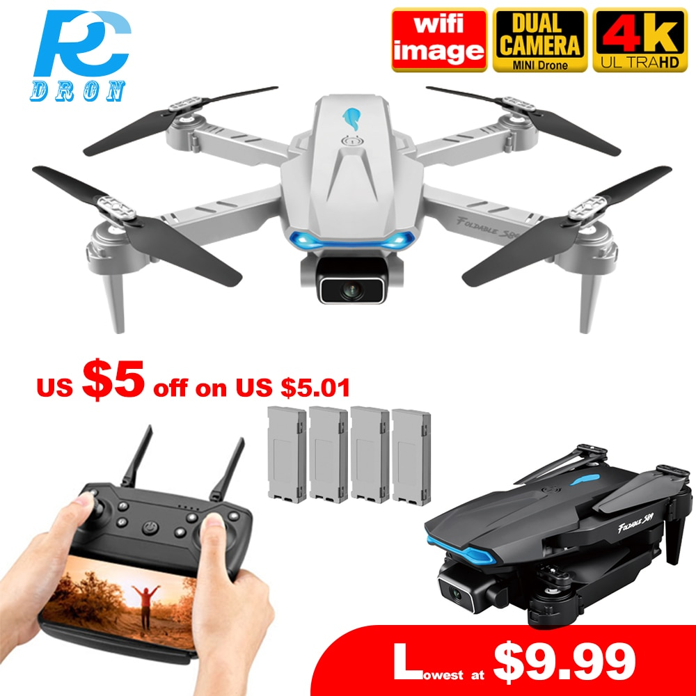 RC Dron S89 Pro Mini Drone with 4k HD Dual Camera 1080P WiFi Fpv Foldable Dron Height hold Newest Quadcopter Toy Gift PK E525