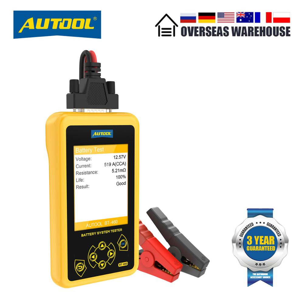 AUTOOL BT460 Car Battery Tester Automotive Goods 12V 24V Load Tester Auto Battery Analyzer Charging
