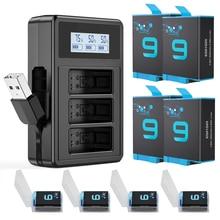 BINPAI GoPro 9 10 Battery Charger and 2000mAh GoPro Hero 9 Hero 10 battery for GoPro Hero 9/10 camer