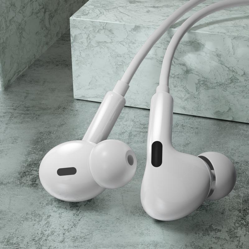 Auriculares internos con micrófono y cable de 3,5mm, auriculares con Control de volumen para teléfonos inteligentes Samsung Galaxy S10, S9, S8, S7, huawei y xiaomi para iphone 6 6s
