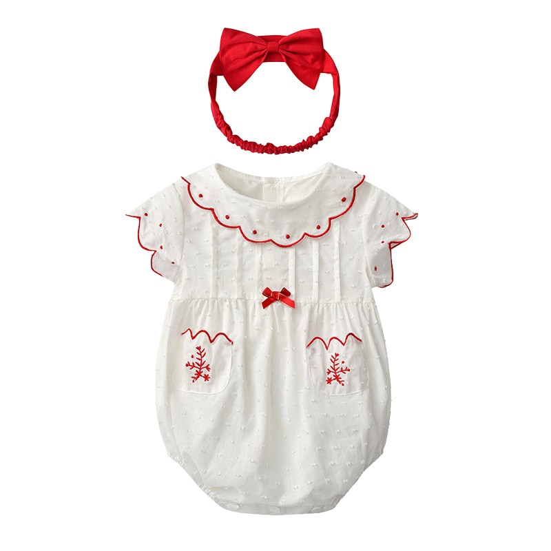 Yg brand children's clothing summer Korean version new cute ha ha clothes bow baby climbing clothes