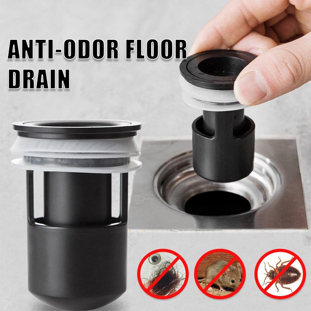 Dreno de chão chuveiro ralo de cabelo rolha coletor pia filtro de drenagem protetores banheiro banheira banheiro cozinha anti-odor dreno de assoalho