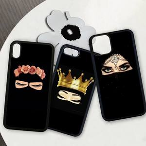 Hijab niqab islam Muslimah Girl patch Hemming phone case cover for iphone se 2020 6 6s 7 8 plus x xs max xr 11 12 pro max funda