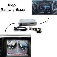 Voor Jeep Park Assist Front & Bakcup achteruitrijcamera interface Reverse Verbeteren Grand Cherokee WK2 2016 ~ 2018/kompas 2th/Cherokee KL