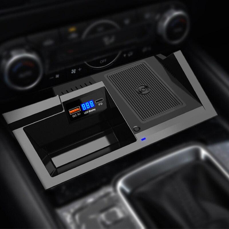 Carregador de carro sem fio para mazda cx5 CX-5 2017 2018 2019 2020 acessórios do carro sem fio qi carregador do telefone móvel titular carregamento