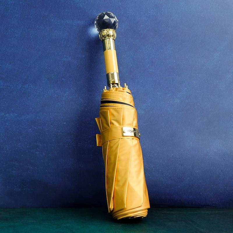 Portable Folding Umbrellas Travel Windproof Creative Compact Luxury Uv Protection Umbrella Outdoor Guarda Chuva Rain Gear DF50YS enlarge