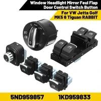 volkswagen jetta golf mk5 6 tiguan rabbit 5nd959857 1kd959833 window front headlight mirror flap door control switch button