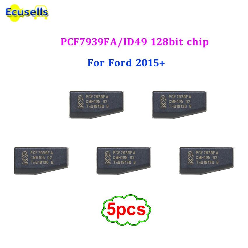 5 pçs/lote PCF7939FA ID49 128Bit imobilizador chip Hitag Pro chip de transponder para FORD Explorer Borda F series Fusion Mustang 2015 +